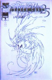 Witchblade #25 B&W Sketch Variant Dynamic Forces Signed Michael Turner Ltd 199 Top Cow comic book